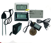 Wholesale hot thermometer for the soil moisture temperature and humidity testing and special USB cable can be connected to a computer