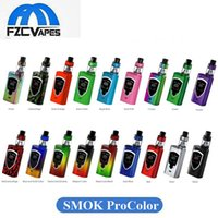 Wholesale Pro Colors - 100% Original SMOK ProColor 225W Kit 17 Colors Pro Color E Cigarette Vape Starter Kit with 5ml TFV8 Big Baby Tank