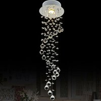 Wholesale Rustic Light Fixtures - VALLKIN Mini Crystal Pendant Light Lamp Fixtures For Staircase Dining Room Bar with AC110 to 240V