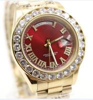 reloj de pulsera calibre 16 al por mayor-2017 Presidente de oro Día-Fecha Reloj de diamantes Reloj de pulsera automático para hombre de acero inoxidable Madre de perla Dial Bisel