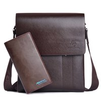 Wholesale New Body Promotional - New Arrival Fashion Business Leather Men Messenger Bags Promotional Small Crossbody Vintage Shoulder Bag Casual Man Bag