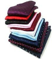 Wholesale Wholesale Silk Handkerchiefs Wholesalers - 200pcs a lot new fashion designer print Silk Satin Pocket Square Hanky Jacquard Woven Classic Wedding Party Handkerchief for men accessories