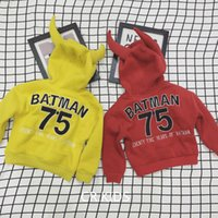 Wholesale Cotton Sweatshirt Baby Yellow - New Fashion Children Long Sleeve Ox Horn Hoodies Clothes Girl Boy Loose Cotton Sweatshirts Baby Kids Pullover Infant Toddler Top Clothing