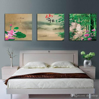 Wholesale Bamboo Framed Painting - Modern Contemporary Feng Shui Wall Art Bamboo Landscape Painting Hd Print On Canvas Set30260