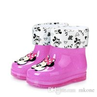 Wholesale China Baby Pvc Shoes - baby shoes china Girls Rain Boots Fashion Snow Boots Winter Summer 7 6 6.5 Girls New Style Great High Quality Kid Pvc Warm