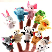 Wholesale Cloth Wholesalers - In Stock Unisex Toy Finger Puppets Finger Animals Toys Cute Cartoon Children's Toy Stuffed Animals Toys