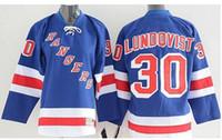Wholesale Linen Shirts Men Cheap - 2015 New York Rangers Henrik Lundqvist Jersey Blue Home 100% Embroidery Cheap Men #30 NY Rangers Ice Hockey Jerseys Shirts
