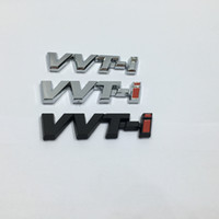 Wholesale 3d car badge toyota - 2pcs For Toyota Corolla Ralink VVT-i vvti Chrome ABS logo Car Sticker side Emblem Badge