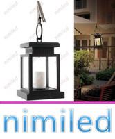 ingrosso albero appendere le luci solari-nimi1045 Vintage Solar Powered Lamp impermeabile appeso lanterna a lume di candela LED con morsetto Beach Umbrella Tree Garden Yard Lawn Lighting