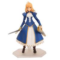 ingrosso vestito da modello del giocattolo-Anime Fate / stay night Figma EX-025 Sabre Dress Ver. PVC Action Figure Modello da collezione Toy 14cm KT2149