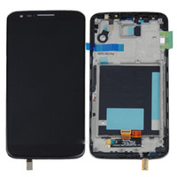 Wholesale lg g2 white touch screen resale online - white and Black Generic LCD Touch screen Digitizer Assembly For LG Optimus G2 D800 Frame