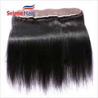Wholesale Virgin Lace Closure 13x2 - 60% Off Virgin Brazilian 8A Human Hair Silky Straight 13x2 Lace Frontals Hair Frontal Bundles Free Middle 3 Part Guaranteed Quality