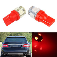Rote Selbstbirnen Kaufen -50Pcs Super roter T10 Wedge 5-SMD 5050 AUTO LED-Glühlampen W5W 2825 158 192 168 194