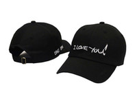 Wholesale I Love Balls - 2016 New Arrivals Kpop Snapback Cap Men Black Cotton casquette polos Baseball Caps Red rose dedicated to you I love you panel hats