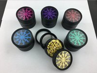 Wholesale Wholesale Smoking Spice - Original Metal Tobacco Lightning Herb Grinder 52*38MM With 4 Parts Colorful Smoking Grinder Spice Crusher 6colors With Display box