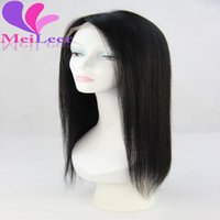 Wholesale Cheap Wigs Long Black Hair - 6A Grade Cheap Peruvian Lace Front Straight Human Hair Wigs For Black Women Tangle Free Shedding Free Lace Front Wigs With Baby Hair