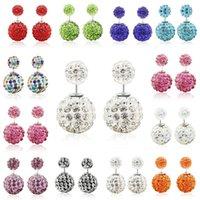 Wholesale Used Ear Plugs - Celebrity Women's Screw Double Pearl Beads Rhinestone Dual-use Ear Studs Plug Earrings Pin Big Pearl Earrings for women E006