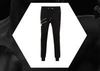 Wholesale men s brands harem pants - new style fashion Locomotive pu panelled mens casual pants sweatpants mens joggers Hip hop harem trousers male brand-clothing