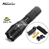 Wholesale Mode Battery - G700 5 Modes led flashlight 3800 Lumen Zoomable CREE XML T6 LED 18650 Flashlight Focus Torch Zoom Lamp Light+battery+charger+mounts