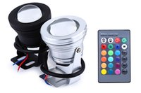 Wholesale Led Fountains For Pools - 10W DC12V RGB LED Underwater Light Waterproof Lamp for Fountain Swimming Pool Pond with 24key IR Remote Control