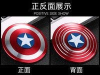 Wholesale Wedding Invitations Bag - Captain America Educational Toy Peg-Top Finger Toys Matellic Wedding Supplies Fashion As Wedding Party Gifts Modern
