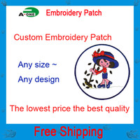 Wholesale Embroidery Garment - 2016 Free shipping Custom Computer Embroidery Patch & Badge garment accessories for customized patch diy embroidery