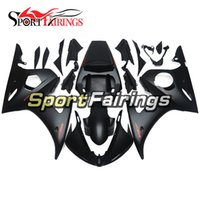 Flat Black Red ABS Injeção Plastic Complete Fairings Para Yamaha YZF600 R6 YZF-R6 05 Ano 2005 ABS Motorcycle Fairing Kit Painel
