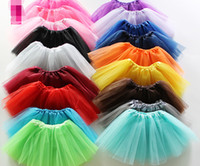 Wholesale Dancing Costumes Kids - Best Match Baby Girls Childrens Kids Dancing Tulle Tutu Skirts Pettiskirt Dancewear Ballet Dress Fancy Skirts Costume Free Shipping
