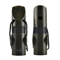 Wholesale Compass Whistles - 7 In 1 Survival Whistle Outdoor Multi-function Whistle Survival Whistle Flashlight Compass Thermometer Magnifier Wholesale 2504008