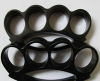 Wholesale thick brass knuckle black for sale - FAT BOY RENEGADE THICK BLACK BRASS KNUCKLE DUSTERS