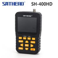 Wholesale hd signal meter for sale - Group buy Genuine Sathero SH HD inch LCD Screen DVB S2 DVB S Signal Finder Support PSK APSK Digital Meter Sathero HD