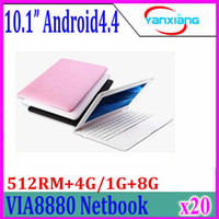 mini computer portatile 10inch netbook VIA8880 Android4.4 dual core notebook pc CORTEX A9 1.5Ghz ram 512mb 4GB portatili 20pcs ZY-BJ-3