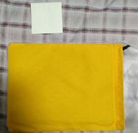telefones grandes venda por atacado-Alta qualidade marca designer gy sacos de embreagem com bolsa de fronteira de couro com bolso do telefone GY saco de embreagem tamanho Grande com dustbag amarelo