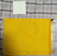 Wholesale large envelope clutch bags - High quality brand designer gy clutch bags with leather border handbag with phone pocket GY clutch bag Large size with yellow dustbag