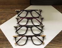 schwarze quadratische brillengläser großhandel-Männer Quadrat RIZZ 2 Brillen Silber Schwarz Rahmen Luxus-Designer-Marke Brillen neu mit Box