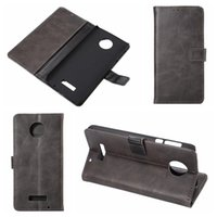 Wholesale Xperia Z Leather - For Blackberry Dtek50 Retro Crazy Horse PU Wallet Leather For Sony Xperia XZ, X Compact,For MOTO Z force, Holder Credit Card Slot Flip Cover