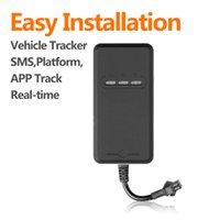 Wholesale Motorcycle Gprs Gps - Mini GPS tracker GSM GPRS small tracking device vehicle,Geo-fence,tracking web for motorcycle and car best locator tracker TR02
