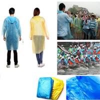 raincoats großhandel-Einweg-Regenmantel Erwachsener Einmaliger Notfall Wasserdichte Kapuze Poncho Reise Camping Muss Regen Mantel Outdoor Regenbekleidung OOA3356