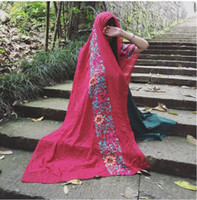 moslems hijab schal freies verschiffen großhandel-KOSTENLOSER VERSAND 2016 MODESCHALS BESTICKTE STRANDSCHALS HOHE QUALITÄT SCHAL BAUMWOLLE Hijab beliebte muslimische Schals