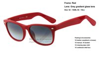 Wholesale Excite Woman - Top quality brand new classical acetate sunglasses 764 32 Exciting Red frame grey gradient glass lens women dress wholesale gafas de sol