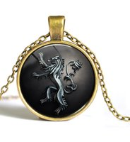 Wholesale Game Horse - A Song of Ice and Fire Game of Thrones Horse Sun Eagle Cable Chain Pendant Sweater Necklace