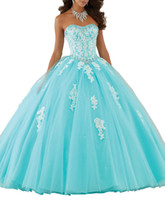 Elegant Strapless 2019 Women Quinceanera Dresses Ball Gown Soft Tulle Debutante Dresses for Sweet 15 Girls Hot Backless Appliques Party Gown
