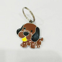 Wholesale Dog Collar Charm Hanging - New Arrival Zhonguanty Lovely Dog Pendants Hang Charms With Open Jump Rings Fit For DIY Key Chain Keyrings Pet Collar Jewelry Making LH501