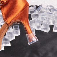 Wholesale Latin Ballroom Dance Shoes Wholesale - 18 pcs AntiSkid Heel Protectors Latin Tango Ballroom Dance Heel Covers Shoes Stoppers For Weddings and Party