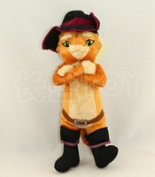 Wholesale Puss Boots Toys - 40CM Puss in Boots Fruit Cats Stuffed & Plush Animals Toys for Children Soft Vivid Plush Cats Animals