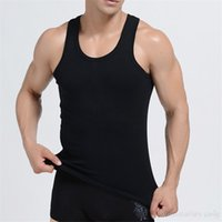 Wholesale Men Tank Top Cheap - Wholesale- Men's Modal Cotton Clothing Tank Top Body-building Tactical Vests Male Sleeveless Shirt Workout Fitness Singlet Cheap Sweatshirt
