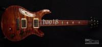 roseau rouge achat en gros de-Meilleure vente Paul Reed DGT Dave Grissom Signature Top Maple Flame Maple Rouge foncé Guitare électrique Chrome Matériel