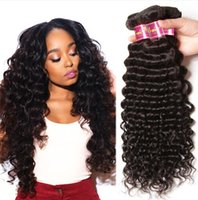 Wholesale Cheap Quality Hair Extensions - Cheap Peruvian Deep Wave Hair Weaves 8A High Quality 100% Unprocessed Human Hair Extensions 8-30inch Dyable Full Thick Free Shipping Fee DHL