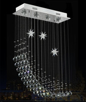 """Wholesale Contemporary Crystal Ceiling Light Fixtures - Contemporary Modern Crystal Rain Drop Chandelier Lighting Flush Mount Led Ceiling Bathroom Fixtures Pendant Lamp for Living Dining L.23.5"""""""