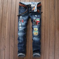 Wholesale Underwear Youth - Wholesale Men Holes Fashion Tide Man Directly Canister Self-cultivation Youth Wash Male robin Pants Jeans underwear Slim trousers